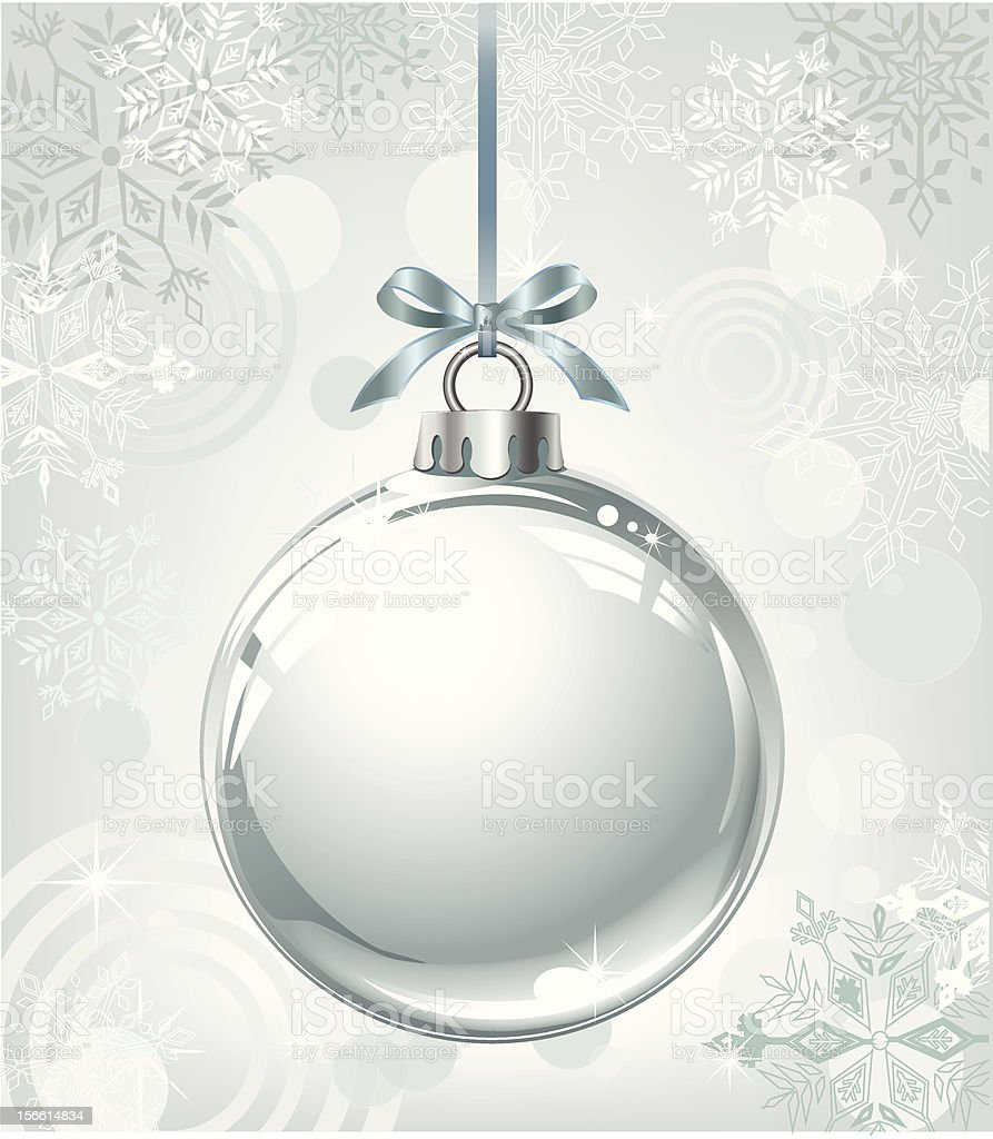 silver ball on abstract christmas background royalty-free stock vector art
