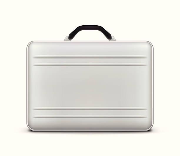 stockillustraties, clipart, cartoons en iconen met silver briefcase icon - attaché