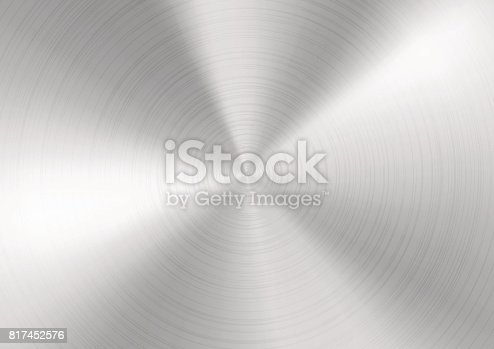 istock Silver Brushed metal background 817452576
