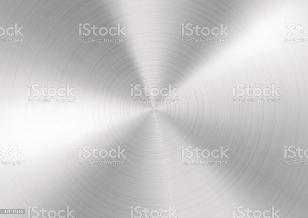 Silver Brushed metal background vector art illustration