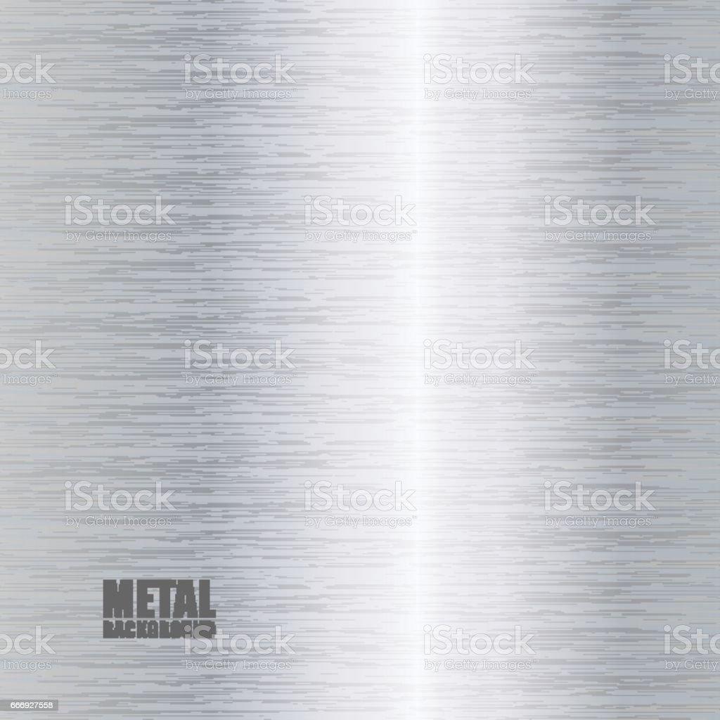 Silver brushed texture background vector art illustration