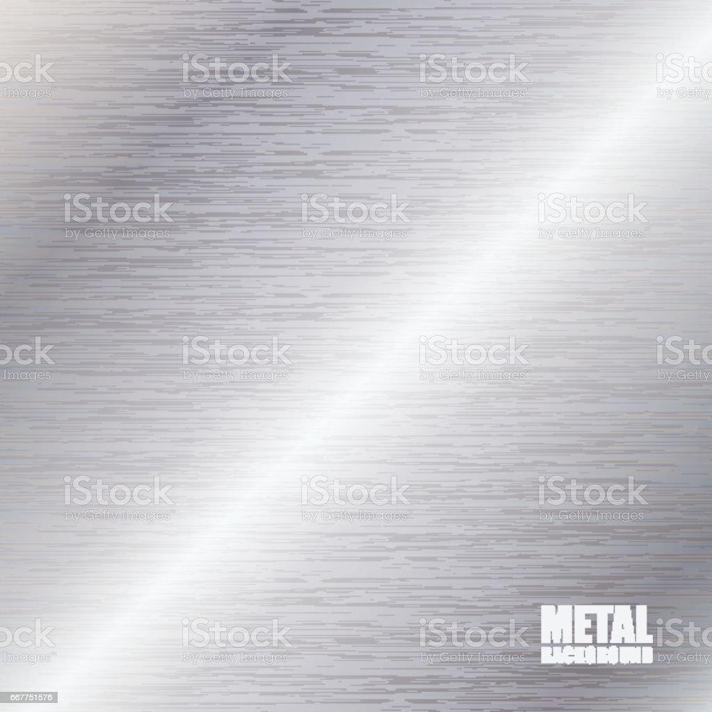 Silver brushed texture background - ilustração de arte em vetor