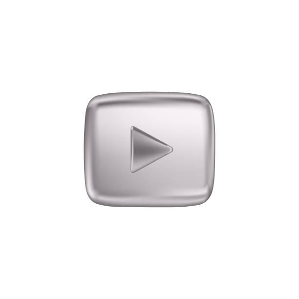銀色按鈕視頻播放機。向量插圖。 - gif 幅插畫檔、美工圖案、卡通及圖標