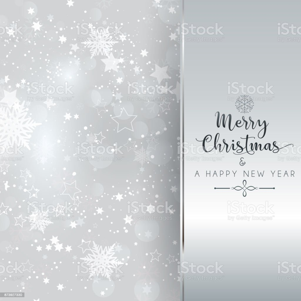 silver christmas and new year background royalty free silver christmas and new year background stock