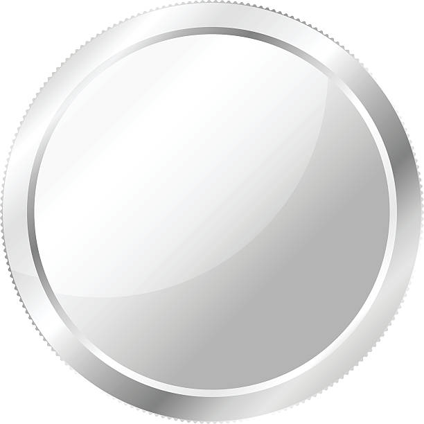 Silver Coin, Currency A vector of a single silver coin. dime stock illustrations