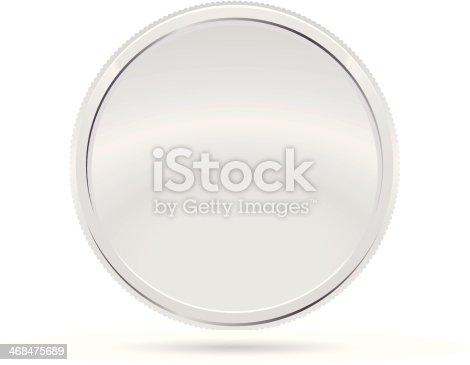 istock Silver Coin, Medal 468475689