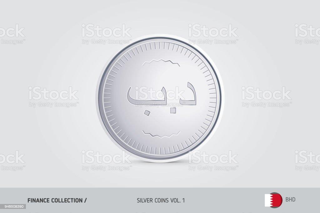 Silver coin realistic silver bahraini dinar coin isolated object on silver coin realistic silver bahraini dinar coin isolated object on background finance concept m4hsunfo