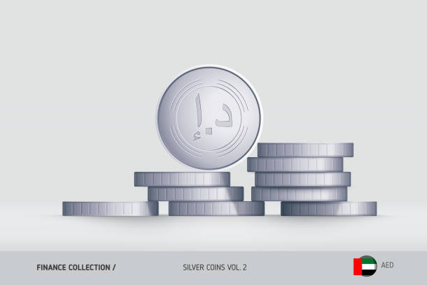 Royalty Free United Arab Emirates Currency Clip Art Vector Images