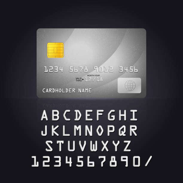 silver credit card icon. - credit card stock illustrations