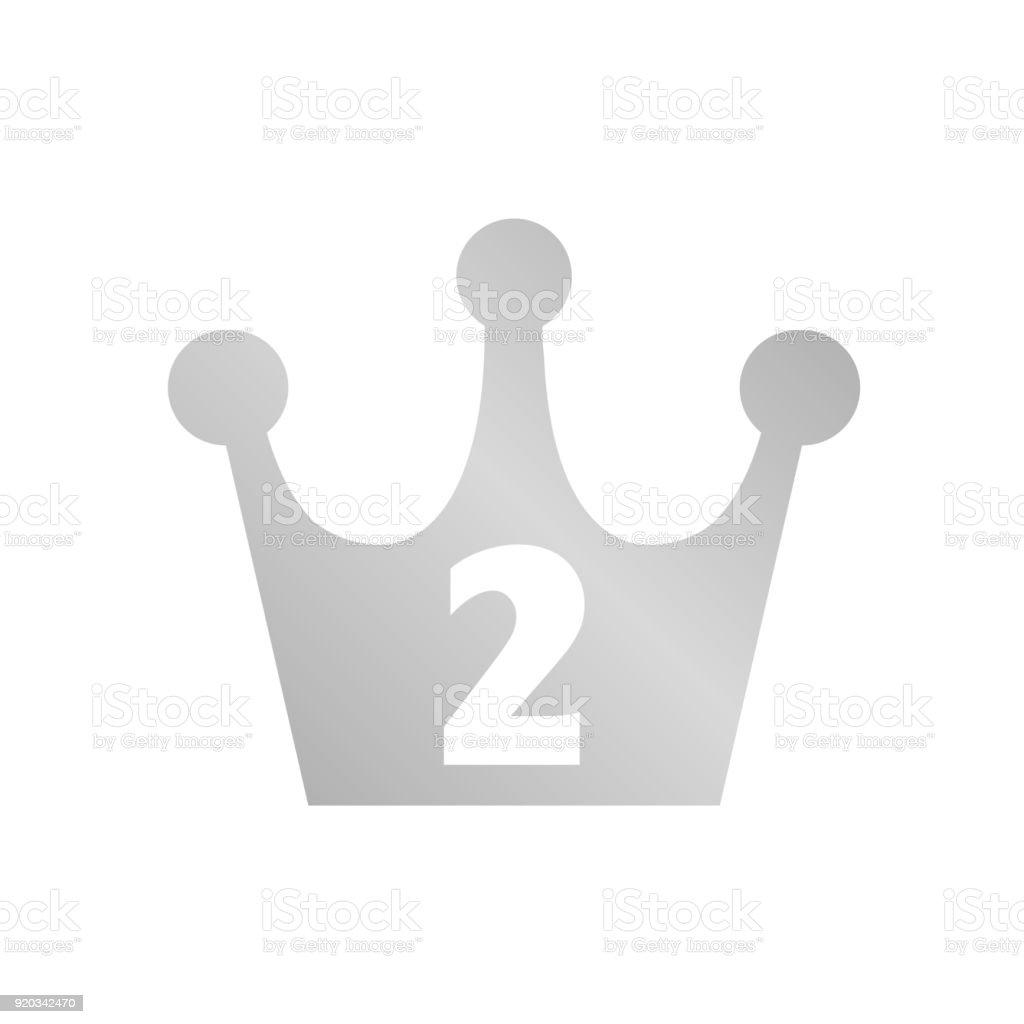 Ilustración de Icono De Corona Plata 2nd Lugar y más banco de ...