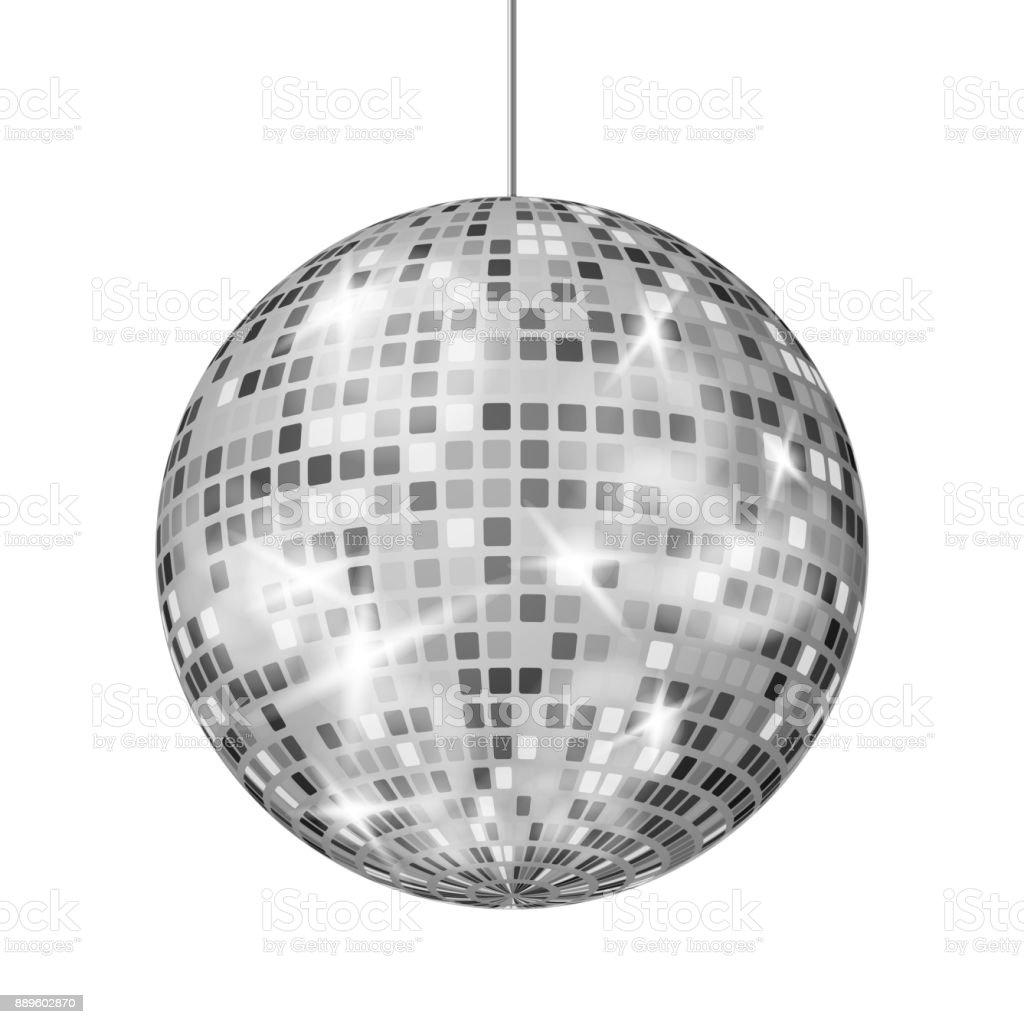 Silver disco ball vector dance night club retro party classic light silver disco ball vector dance night club retro party classic light element silver mirror arubaitofo Gallery