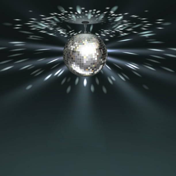 bildbanksillustrationer, clip art samt tecknat material och ikoner med silver discokula - disco lights