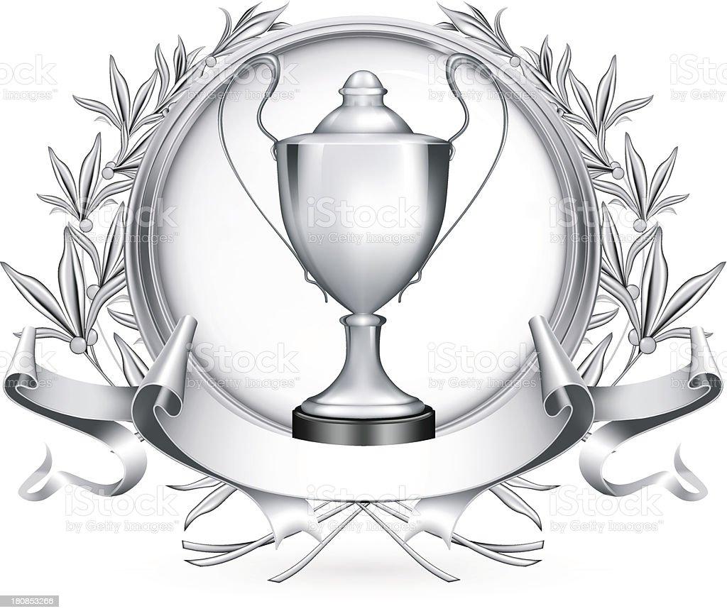 Silver Emblem royalty-free stock vector art