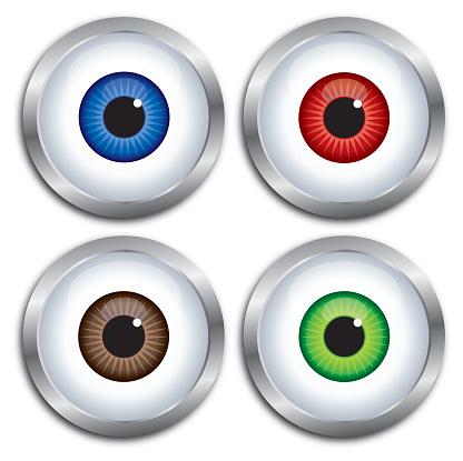 Silver Frame Eyeballs