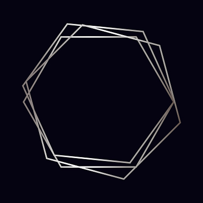 Silver geometric polygonal frame