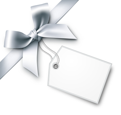 Silver Gift Bows with Tag