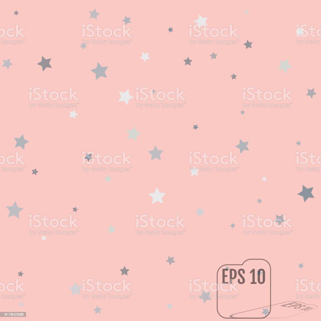 Silber Glitzer Sternschnuppen Stern Silber Glanz Auf Rosa