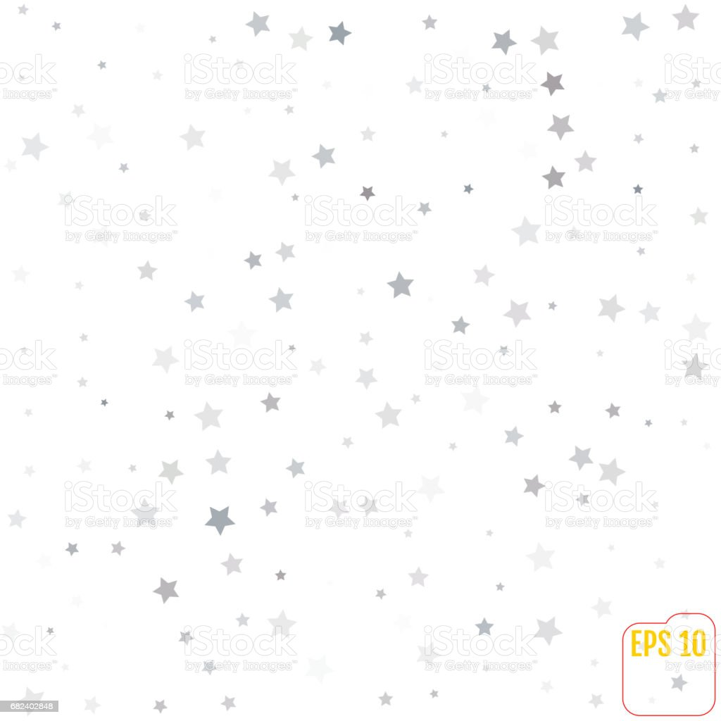Silver glitter falling stars silver sparkle star on white background silver glitter falling stars silver sparkle star on white background vector template for new stopboris Images