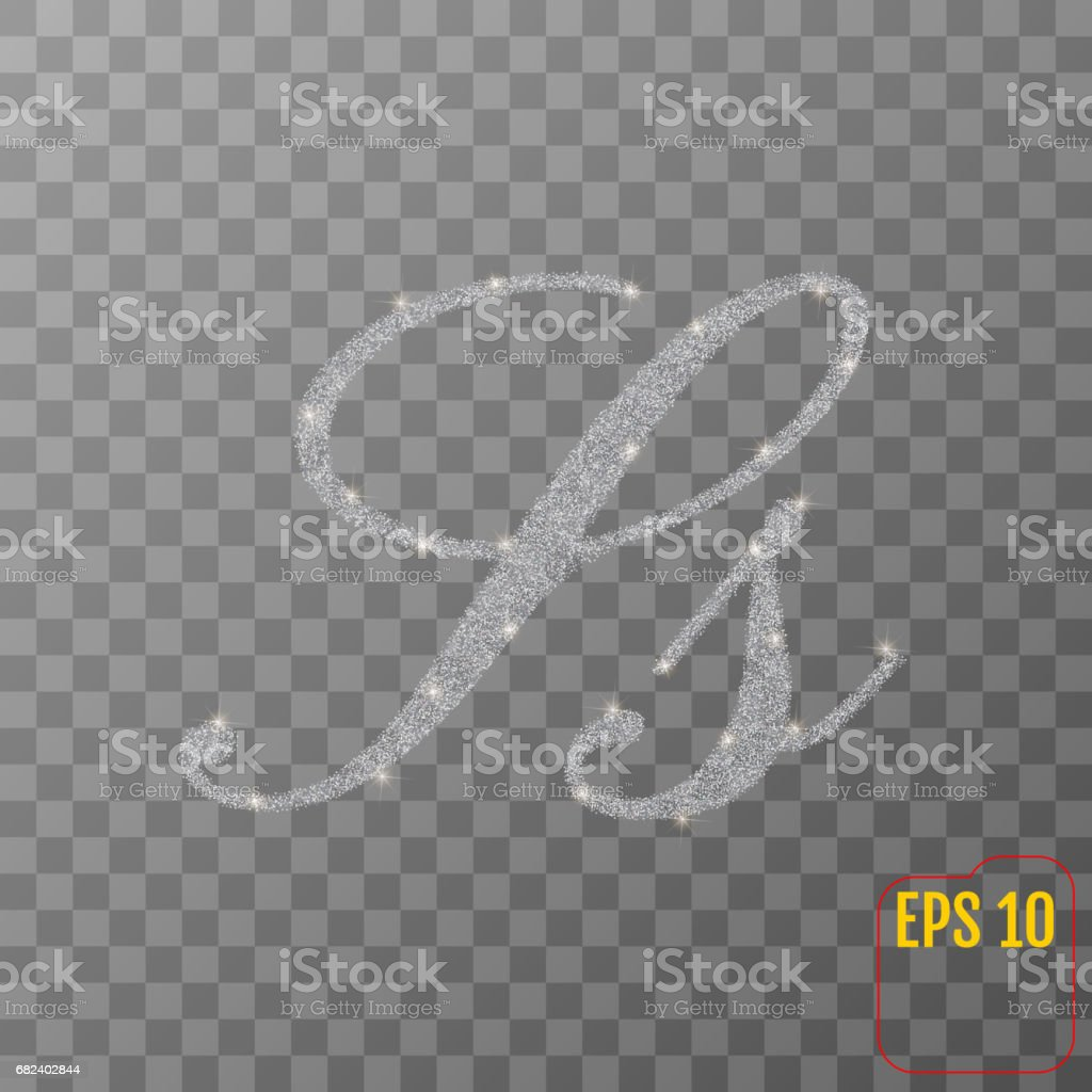 Silver glitter powder letter S in hand painted style on transparent background. Silver font type letter S, uppercase. Vector illustration. royalty-free silver glitter powder letter s in hand painted style on transparent background silver font type letter s uppercase vector illustration stock vector art & more images of abundance