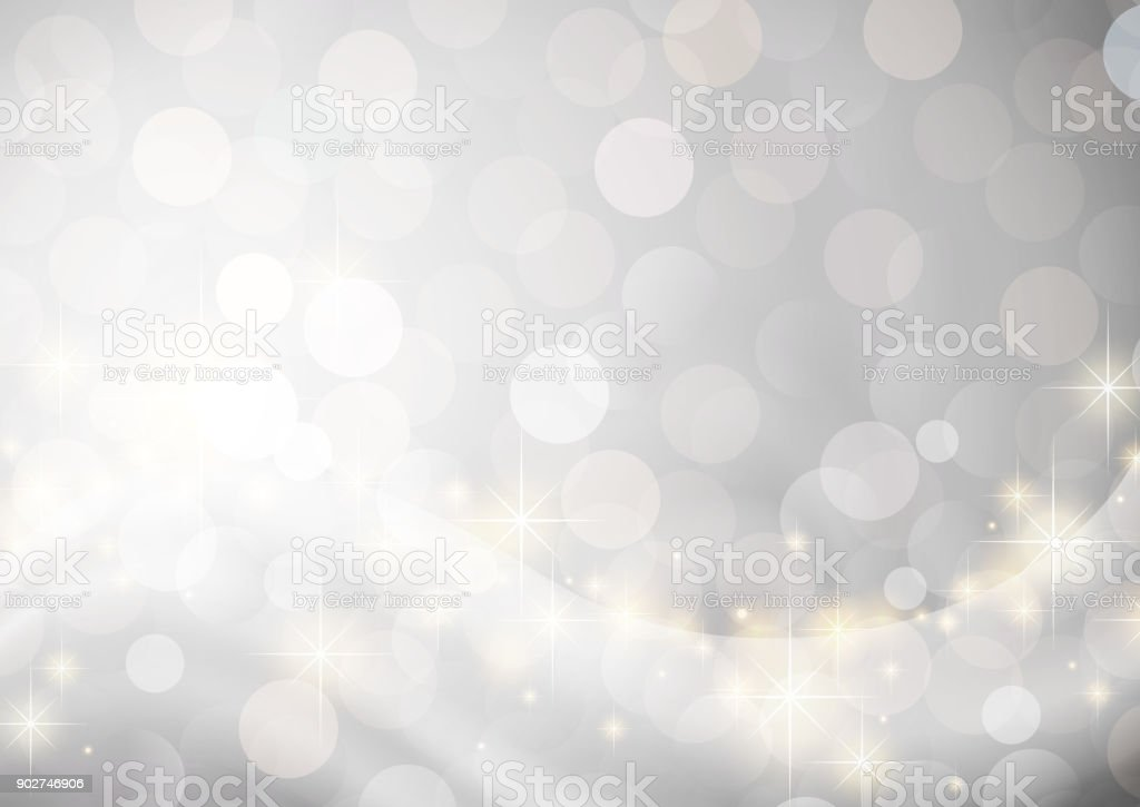 silver glittering background vector art illustration