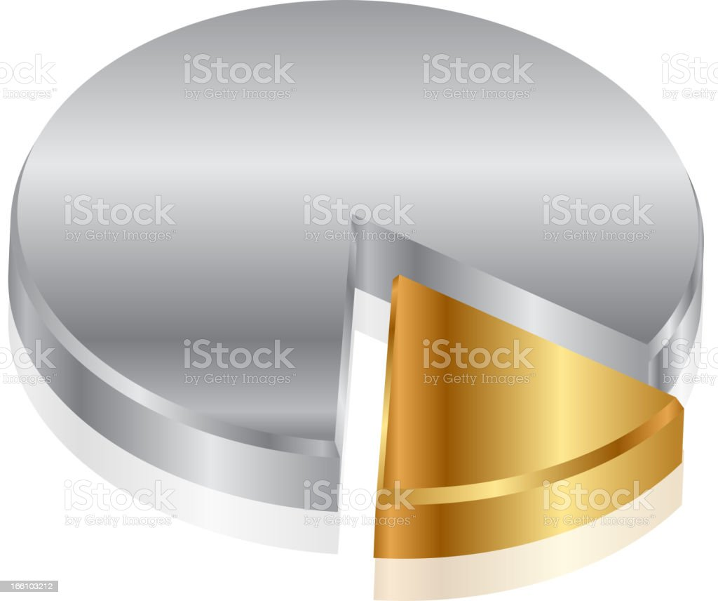silver & gold graph royalty-free stock vector art