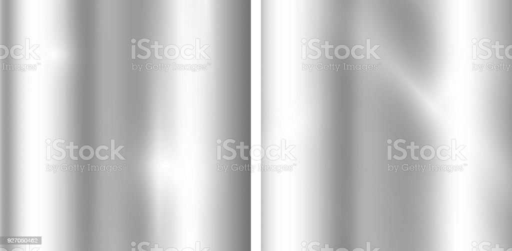 Silver gradients background. Realistic metallic texture. Elegant light and shine template. vector art illustration