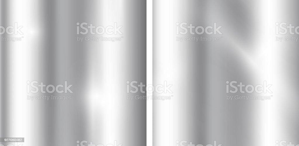 Fond argent dégradés. Texture métallique réaliste. Modèle élégant de lumière et de brillance. - Illustration vectorielle