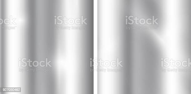 Silver gradients background. Realistic metallic texture. Elegant light and shine template. Vector graphic illustration