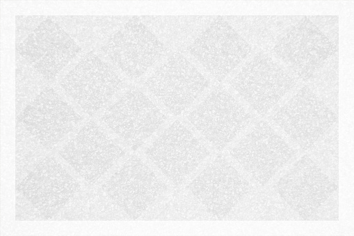 Silver grey and white coloured grayscale criss cross pattern of slanted or diagonal checks all over textured grunge backgrounds