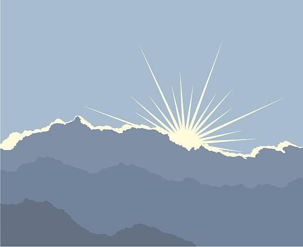 stockillustraties, clipart, cartoons en iconen met silver lining - twilight