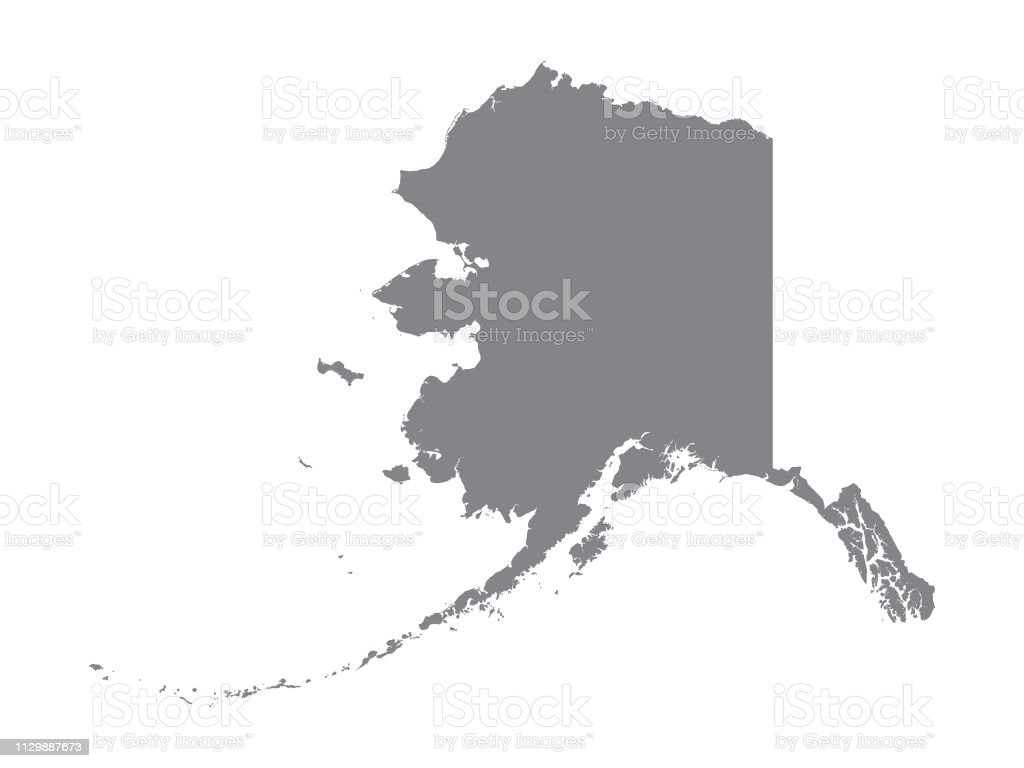 Picture of: Silver Map Of Usa State Of Alaska Stock Illustration Download Image Now Istock