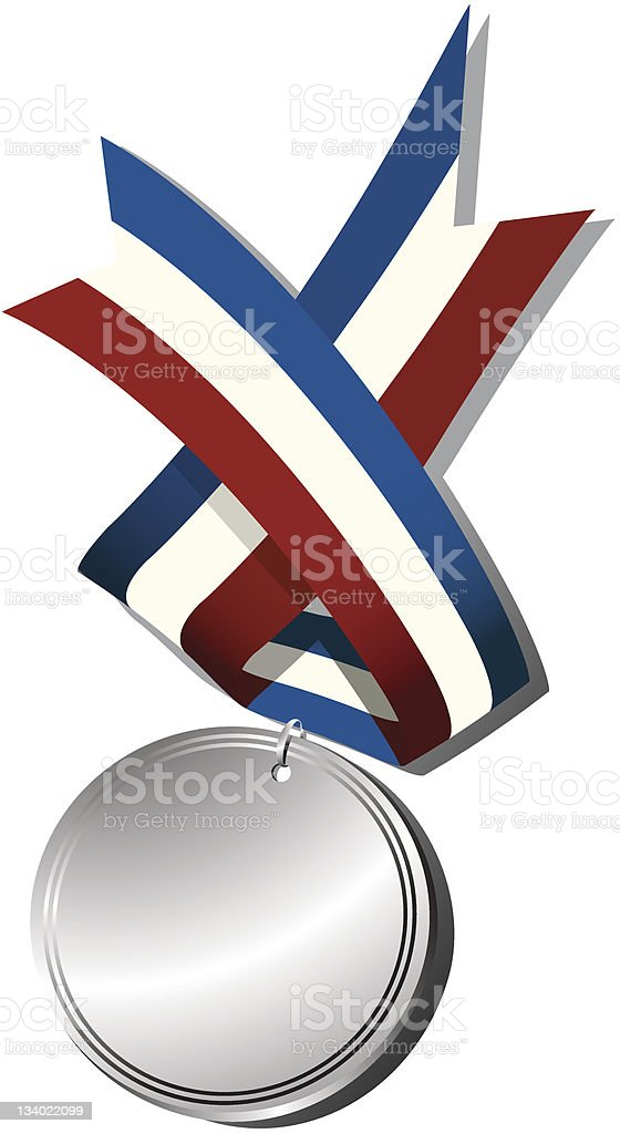 Silver medal and ribbon royalty-free silver medal and ribbon stock vector art & more images of achievement