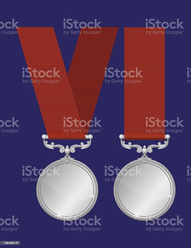 Silver  Medals ( Vectors) royalty-free stock vector art