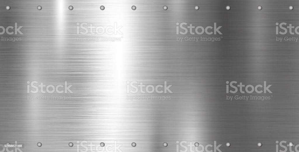 Silber Metall Textur-Hintergrund-Vektor-illustration – Vektorgrafik