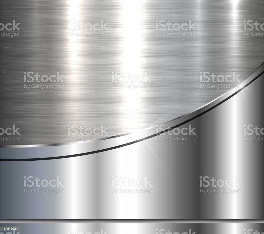 Gümüş Metalik Arka Plan Stok Vektör Sanatı Arka Planlarnin Daha