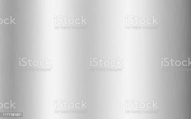 Zilver Metallic Gradiënt Met Krassen Titan Staal Chroom Nikkel Folie Oppervlakte Textuur Effect Vector Illustratie Stockvectorkunst en meer beelden van Abstract