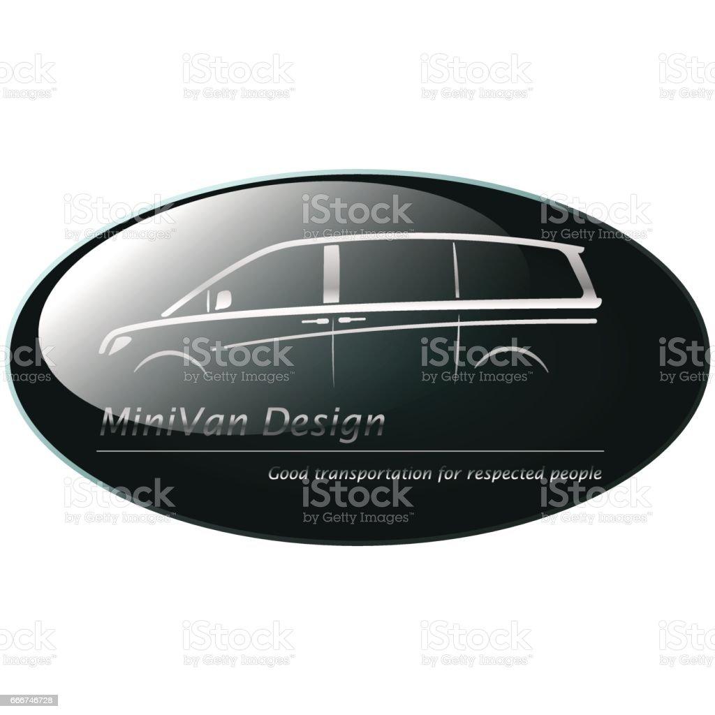 Silver mini van on dark green background silver mini van on dark green background - immagini vettoriali stock e altre immagini di argentato royalty-free