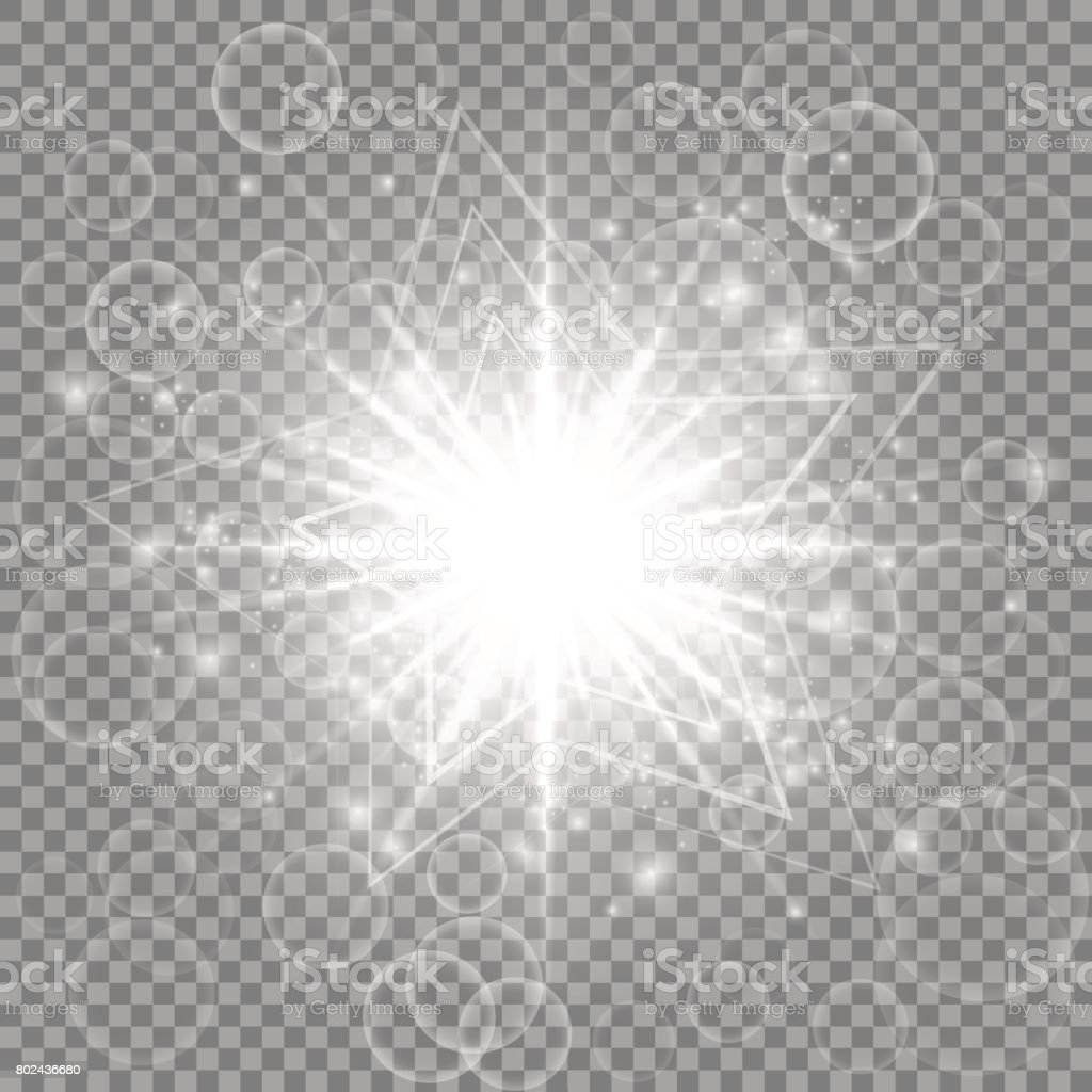 Silver New Year star vector art illustration
