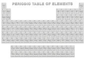 istock Silver periodic table of elements. Periodic table, a tabular display of the 118 known chemical elements. With atomic numbers, chemical names and symbols. English labeled. Vector illustration on white. 1280133774