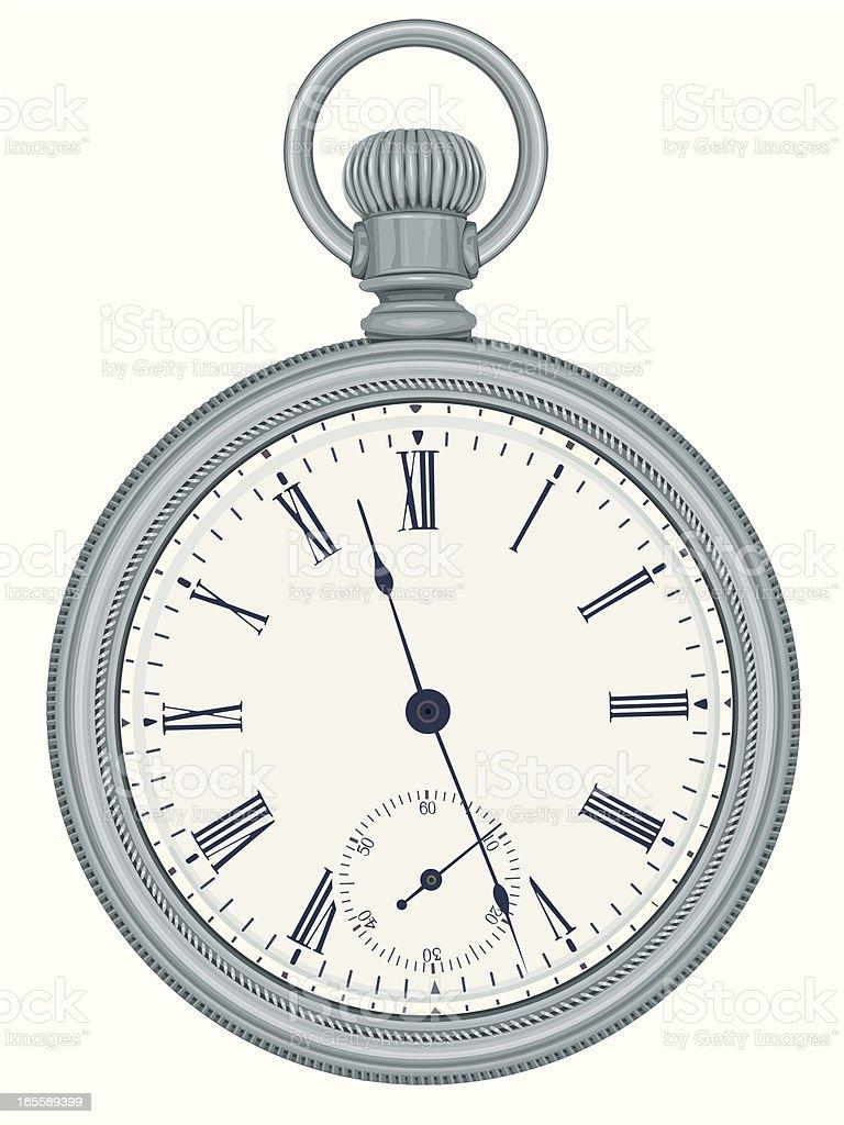 Silver Pocket Watch royalty-free stock vector art