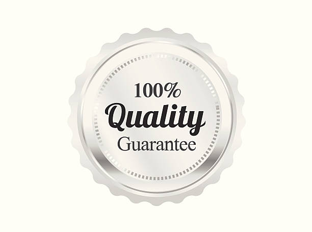 Silver Premium Quality Badge vector art illustration