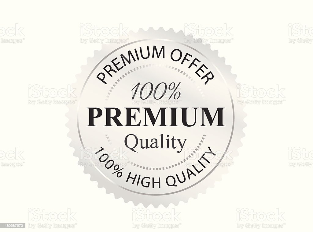 Silver Premium Quality Badge royalty-free silver premium quality badge stock vector art & more images of badge