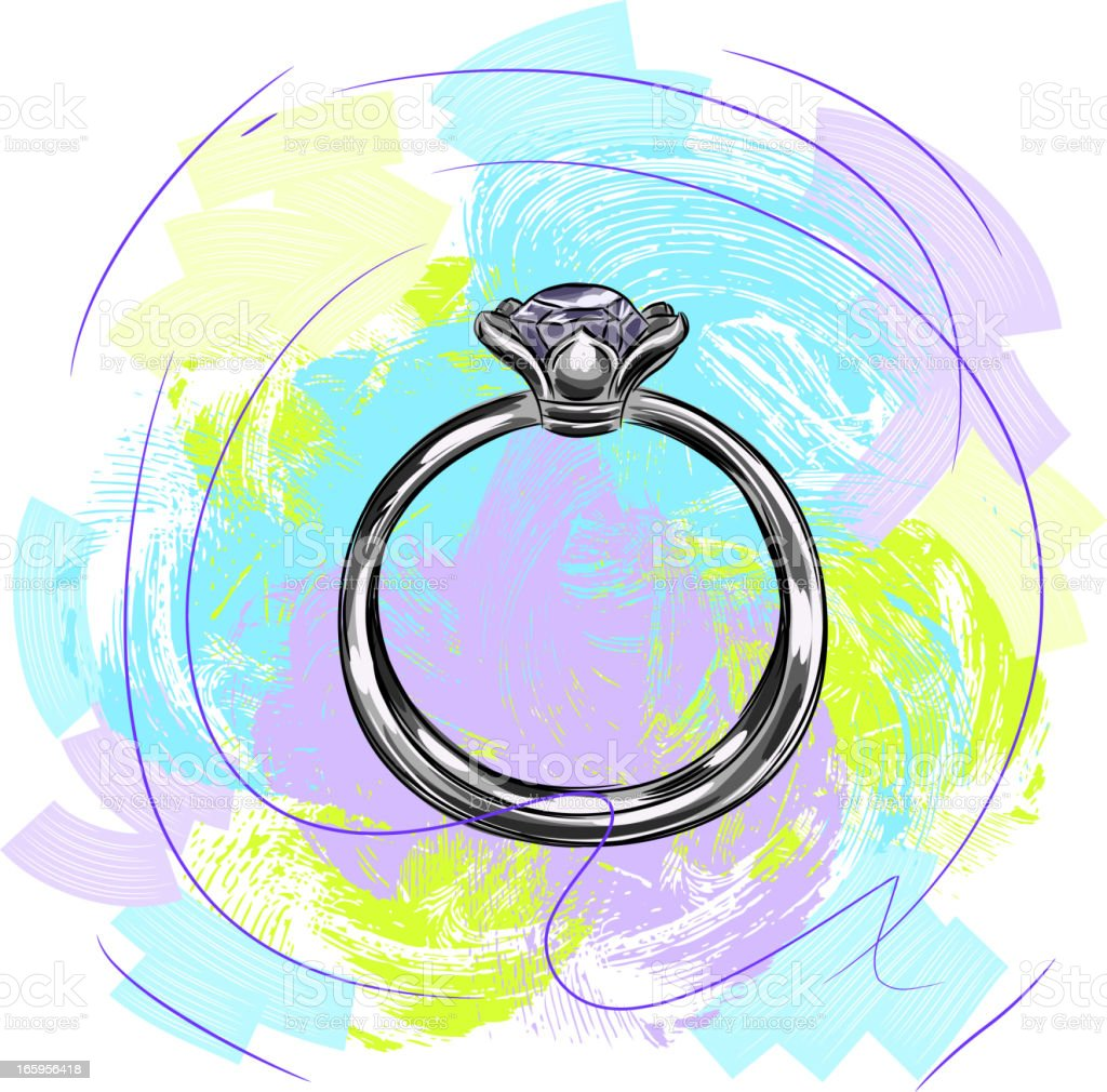 Silver Ring royalty-free silver ring stock vector art & more images of art and craft