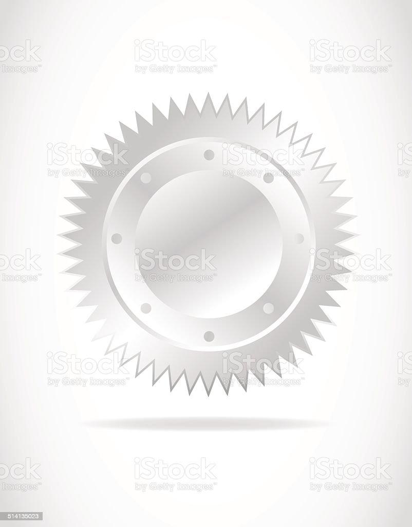 silver seal vector vector art illustration