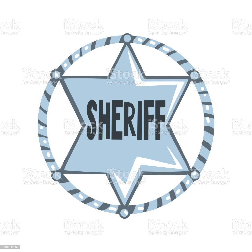 Silver sheriff star badge, American justice emblem vector Illustration on a white background royalty-free silver sheriff star badge american justice emblem vector illustration on a white background stock vector art & more images of american culture