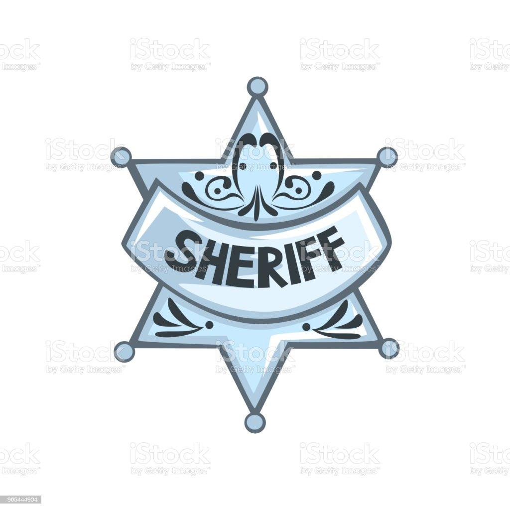 Silver sheriff star badge vector Illustration on a white background silver sheriff star badge vector illustration on a white background - stockowe grafiki wektorowe i więcej obrazów archiwalny royalty-free