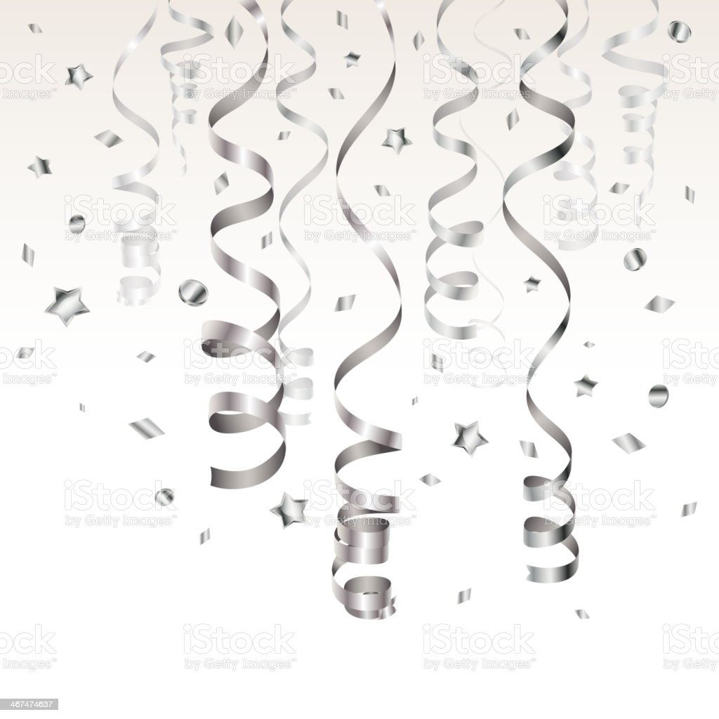 Silver Streamer vector art illustration