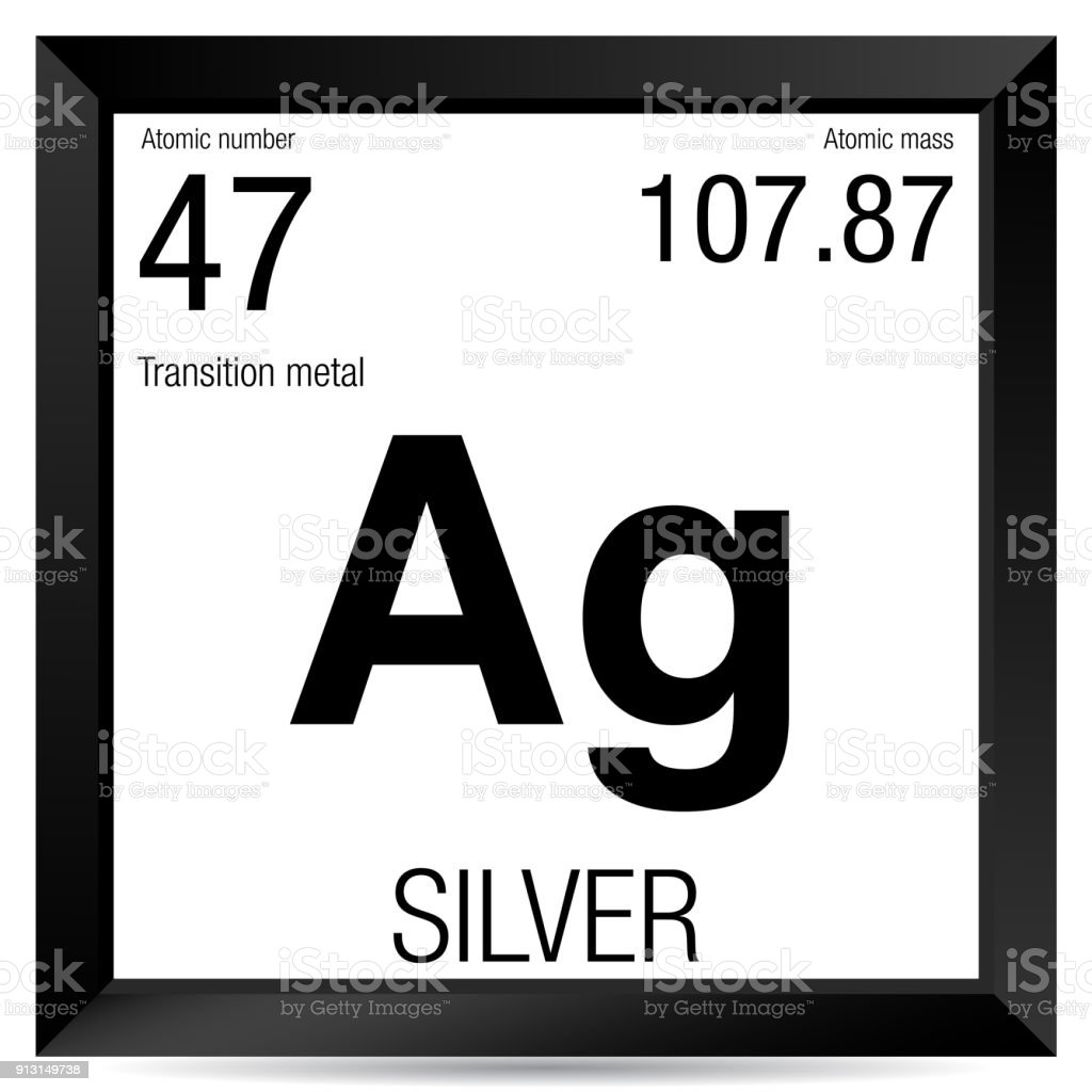 Silver Symbol Element Number 47 Of The Periodic Table Of The