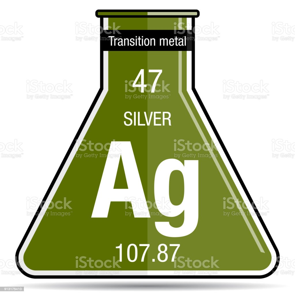 Silver symbol on chemical flask element number 47 of the periodic silver symbol on chemical flask element number 47 of the periodic table of the elements urtaz Choice Image