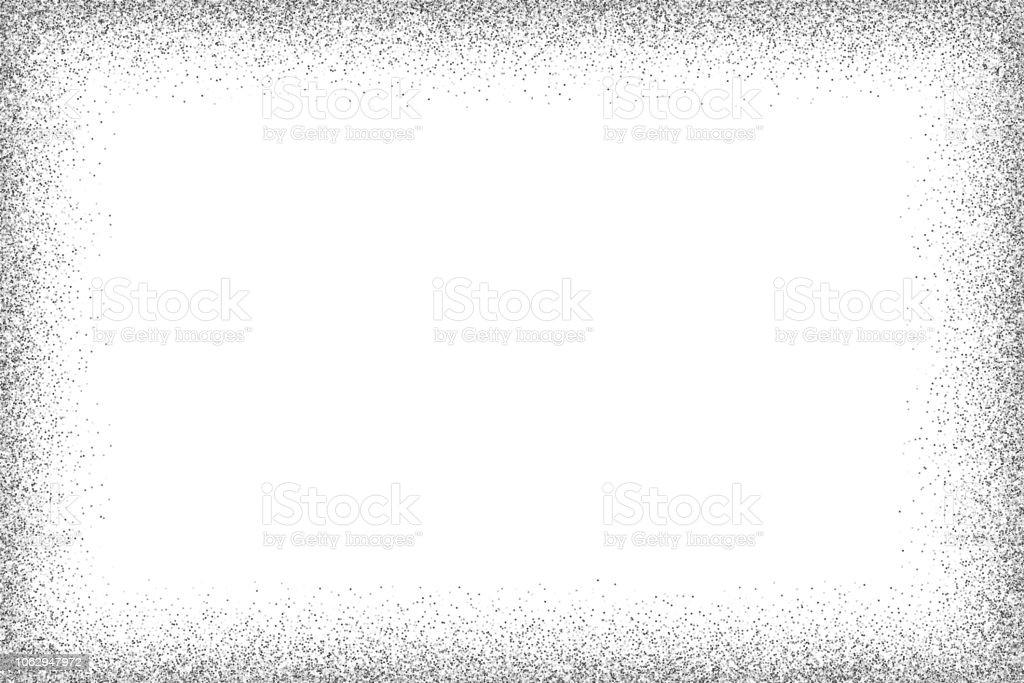 Silver vector glitter frame vector art illustration